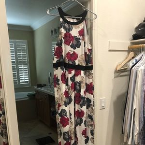 Ann Taylor Halter Maxi with Cropped Sweater